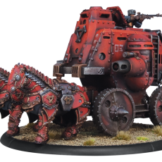 Khador Gun Carriage Cavalry Battle Engine   RESIN