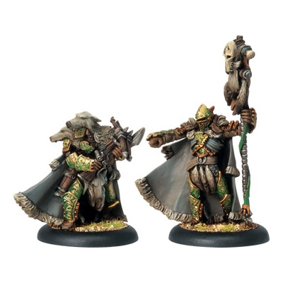 Circle Orboros Reeves Chieftain & Standard Bearer (2)
