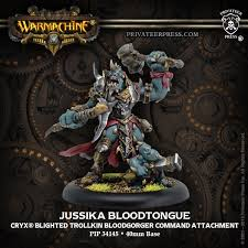 Jussika Bloodtongue – Cryx Character Bloodgorger Command Attachment (resin/metal)
