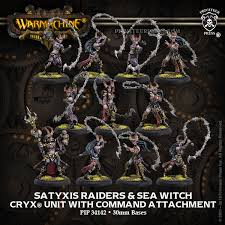 Satyxis Raiders & Sea Witch – Cryx Unit & Command Attachment (resin/metal)