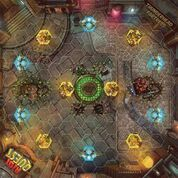 Thunderhead Fortress  Riot Quest fabric playmat