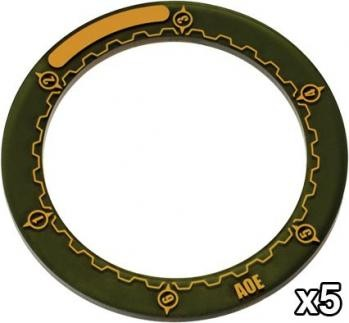 "Warmachine 3""AOE Ring (x5)"
